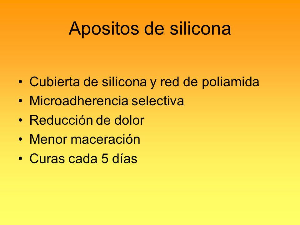 Apositos de silicona Cubierta de silicona y red de poliamida
