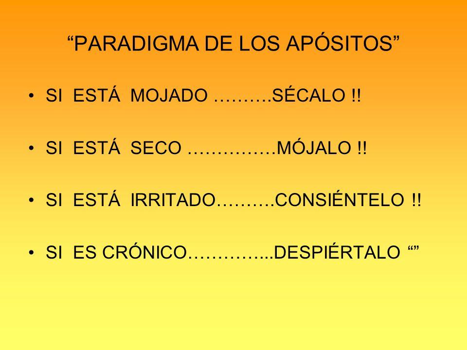 PARADIGMA DE LOS APÓSITOS