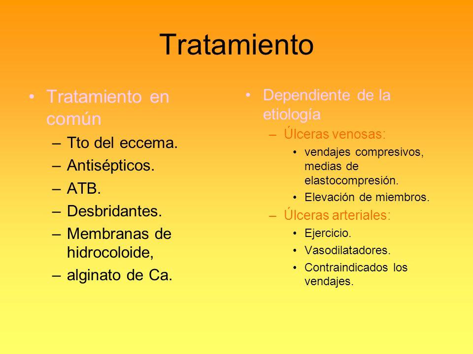 Tratamiento Tratamiento en común Dependiente de la etiología