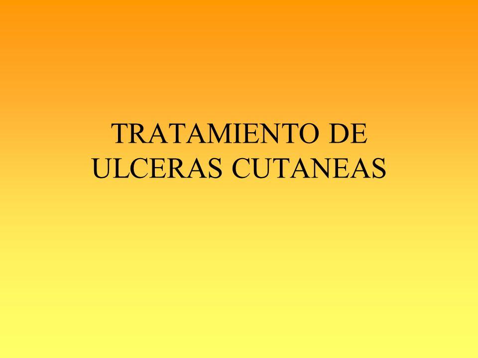 TRATAMIENTO DE ULCERAS CUTANEAS