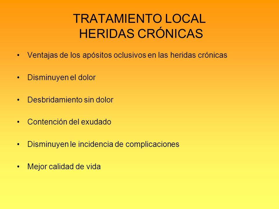 TRATAMIENTO LOCAL HERIDAS CRÓNICAS