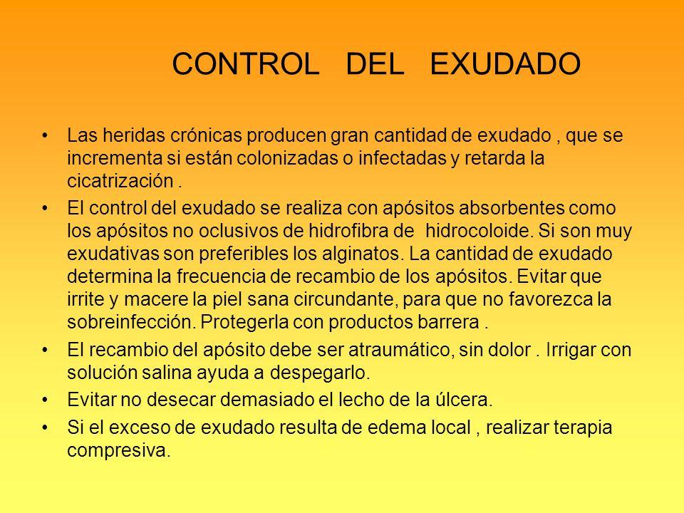 CONTROL DEL EXUDADO