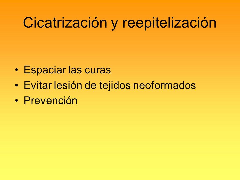 Cicatrización y reepitelización