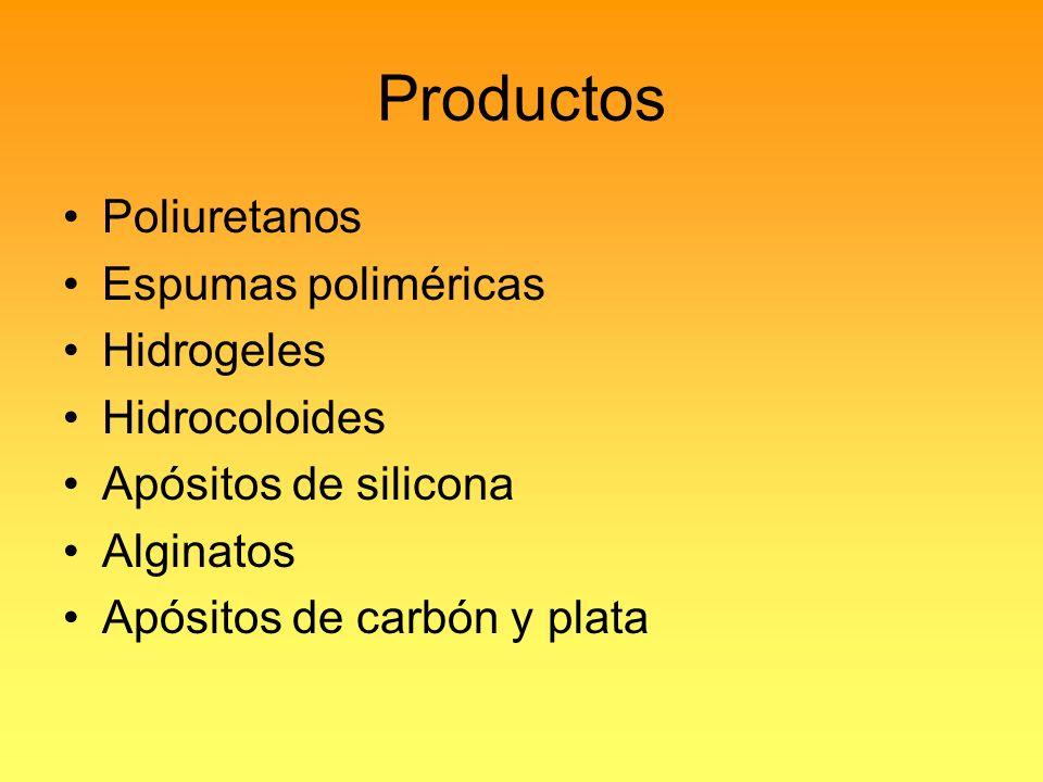 Productos Poliuretanos Espumas poliméricas Hidrogeles Hidrocoloides