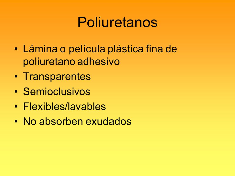 Poliuretanos Lámina o película plástica fina de poliuretano adhesivo