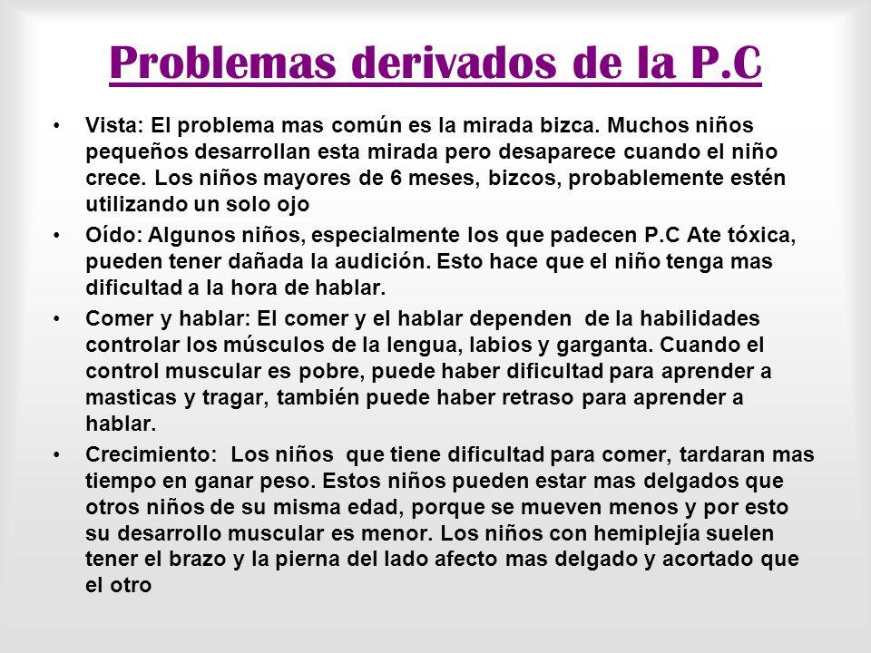 Problemas derivados de la P.C