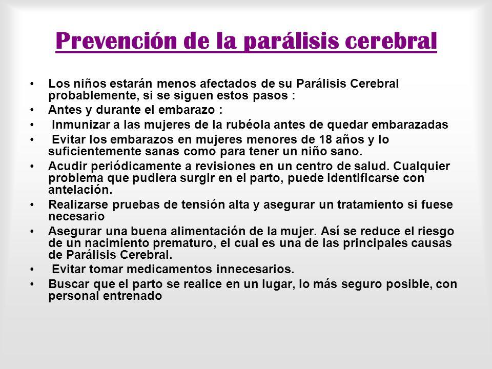 Prevención de la parálisis cerebral