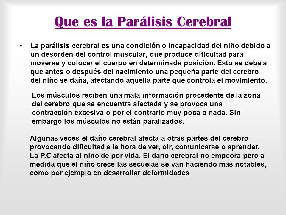 Que es la Parálisis Cerebral