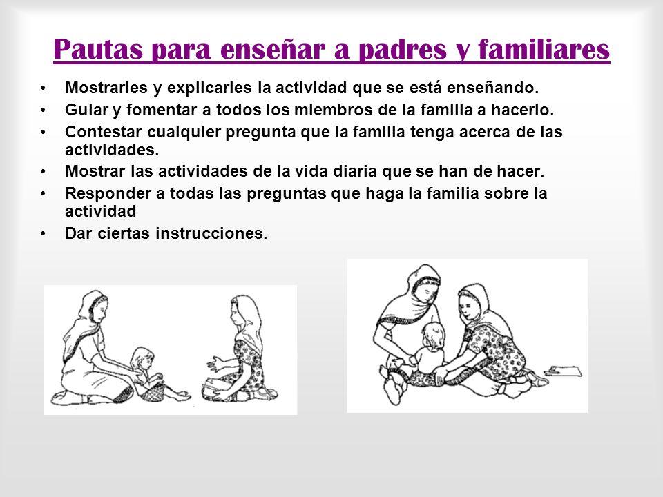 Pautas para enseñar a padres y familiares