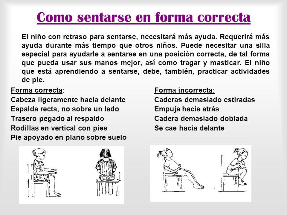 Como sentarse en forma correcta