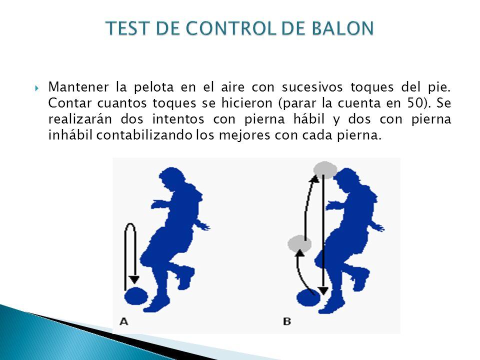 TEST DE CONTROL DE BALON