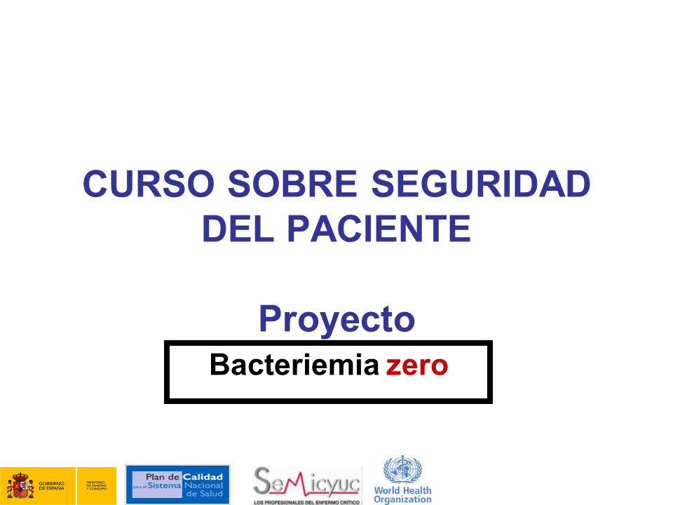 CURSO SOBRE SEGURIDAD DEL PACIENTE Proyecto
