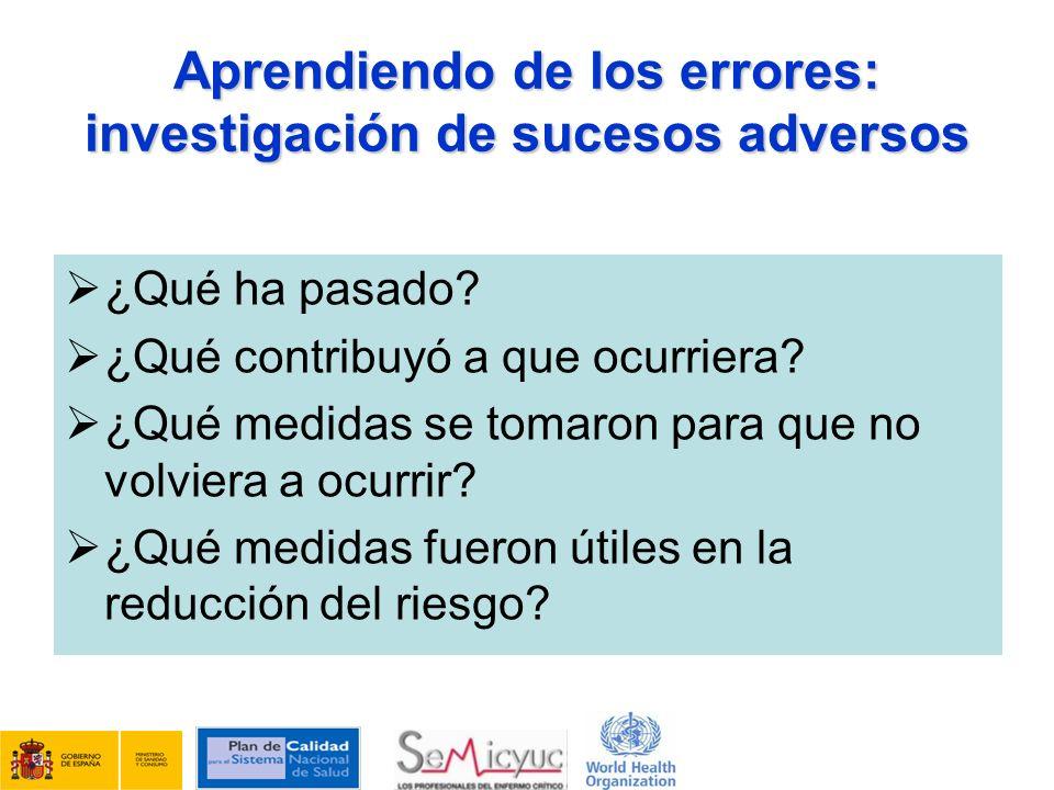 Aprendiendo de los errores: investigación de sucesos adversos