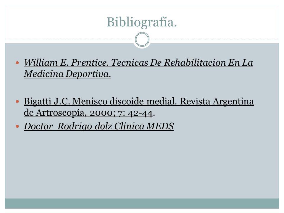 Bibliografía. William E. Prentice. Tecnicas De Rehabilitacion En La Medicina Deportiva.
