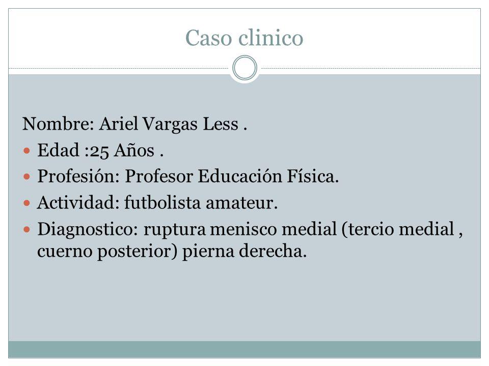Caso clinico Nombre: Ariel Vargas Less . Edad :25 Años .