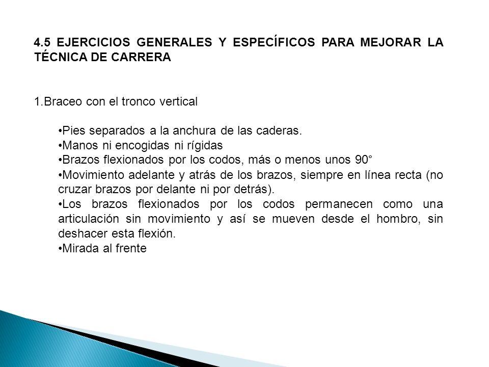 4.5 EJERCICIOS GENERALES Y ESPECÍFICOS PARA MEJORAR LA TÉCNICA DE CARRERA