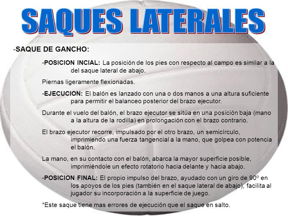 SAQUES LATERALES -SAQUE DE GANCHO: