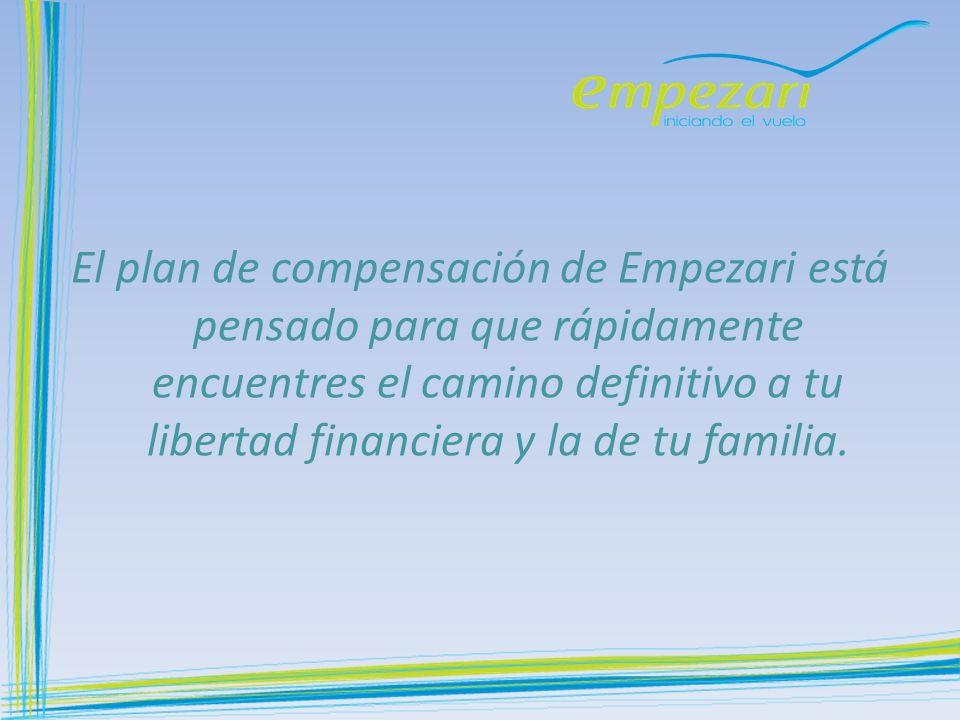 El plan de compensación de Empezari está pensado para que rápidamente encuentres el camino definitivo a tu libertad financiera y la de tu familia.
