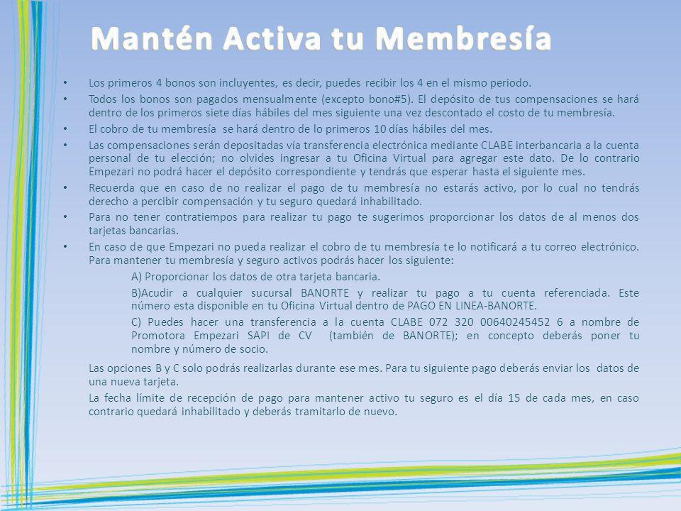 Mantén Activa tu Membresía