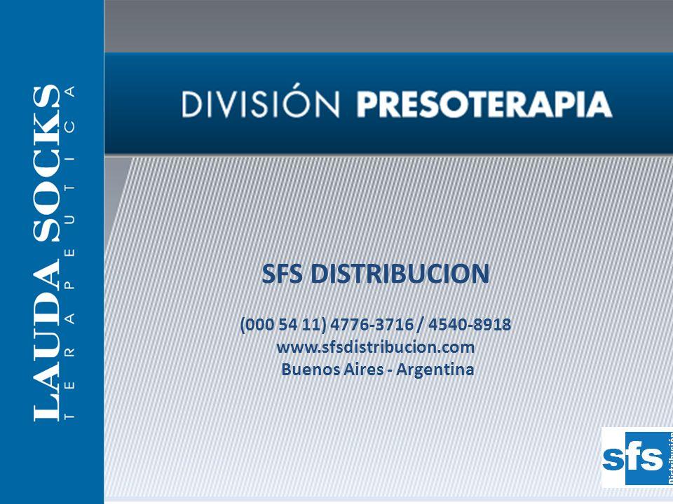 SFS DISTRIBUCION (000 54 11) 4776-3716 / 4540-8918 www.sfsdistribucion.com Buenos Aires - Argentina