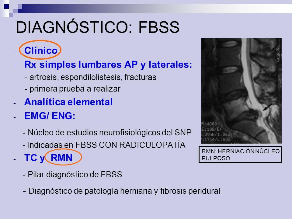 DIAGNÓSTICO: FBSS - Núcleo de estudios neurofisiológicos del SNP