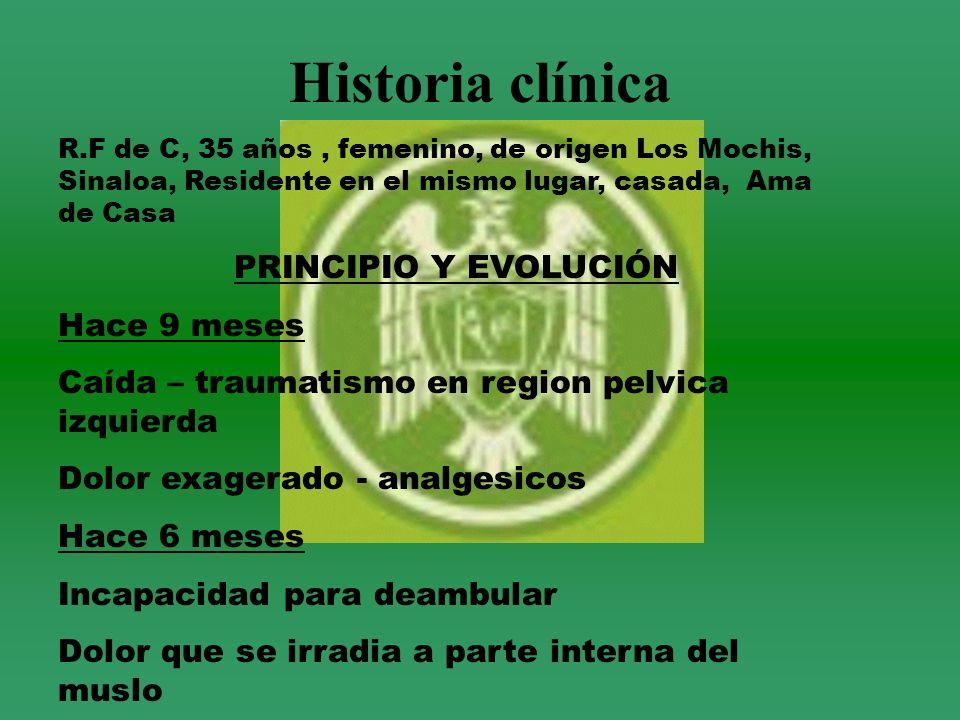 Historia clínica PRINCIPIO Y EVOLUCIÓN Hace 9 meses
