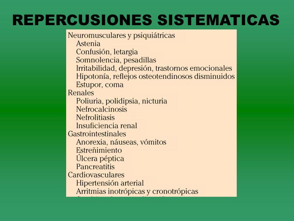 REPERCUSIONES SISTEMATICAS
