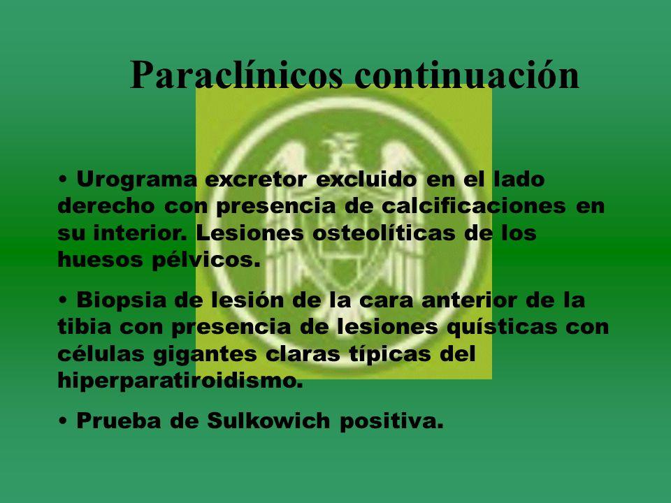 Paraclínicos continuación
