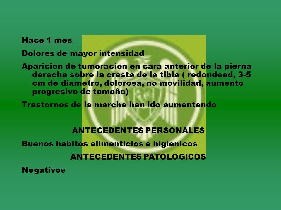 ANTECEDENTES PERSONALES ANTECEDENTES PATOLOGICOS