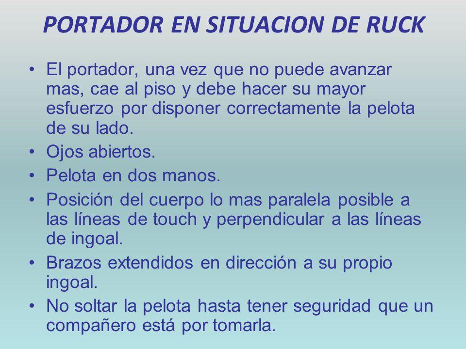 PORTADOR EN SITUACION DE RUCK