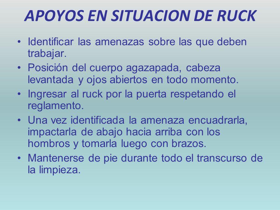 APOYOS EN SITUACION DE RUCK