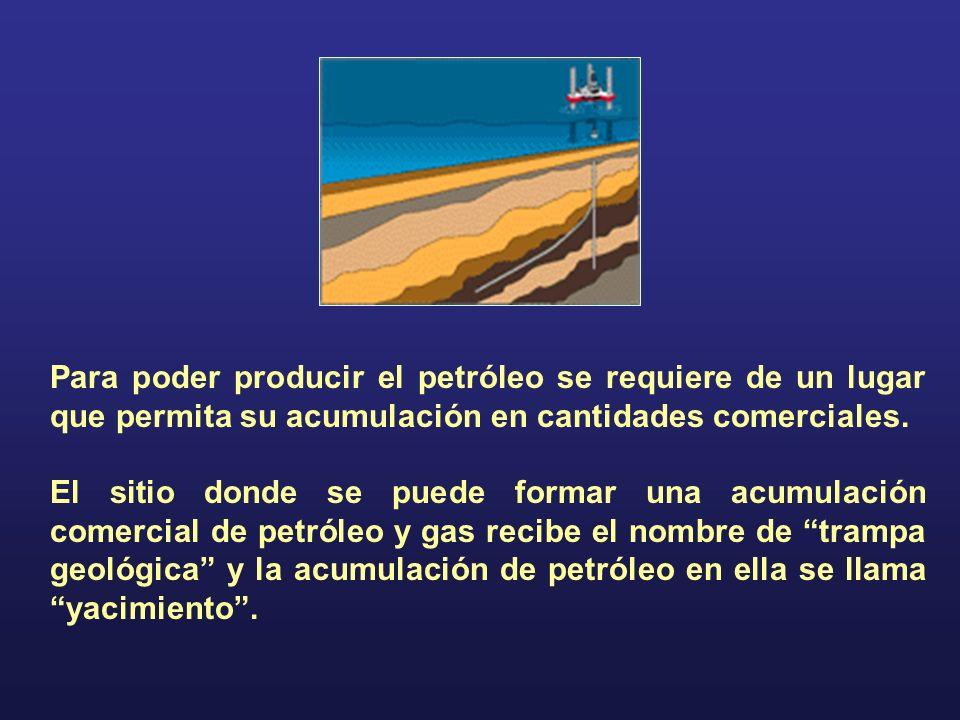 Para poder producir el petróleo se requiere de un lugar que permita su acumulación en cantidades comerciales.
