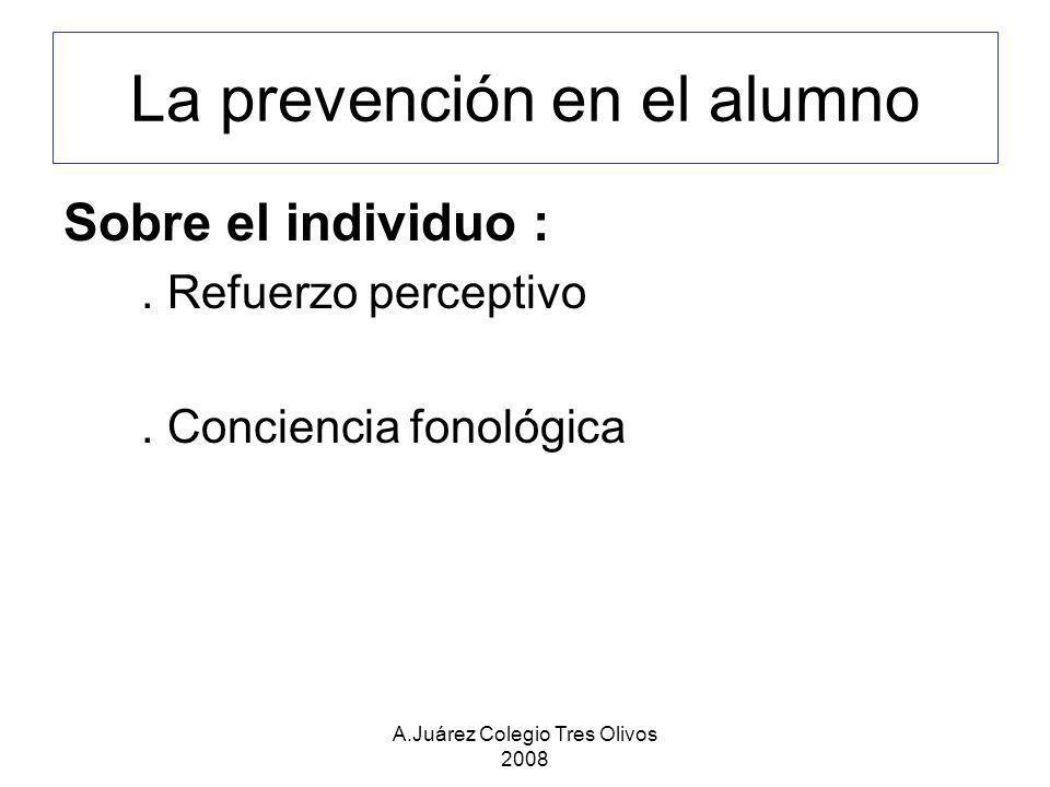 La prevención en el alumno