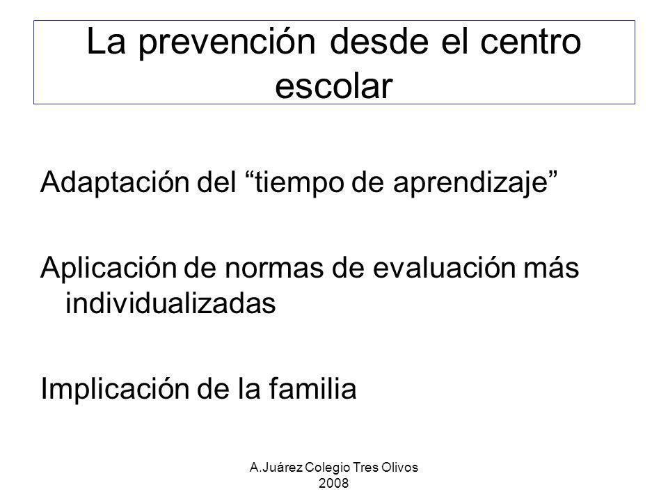 La prevención desde el centro escolar