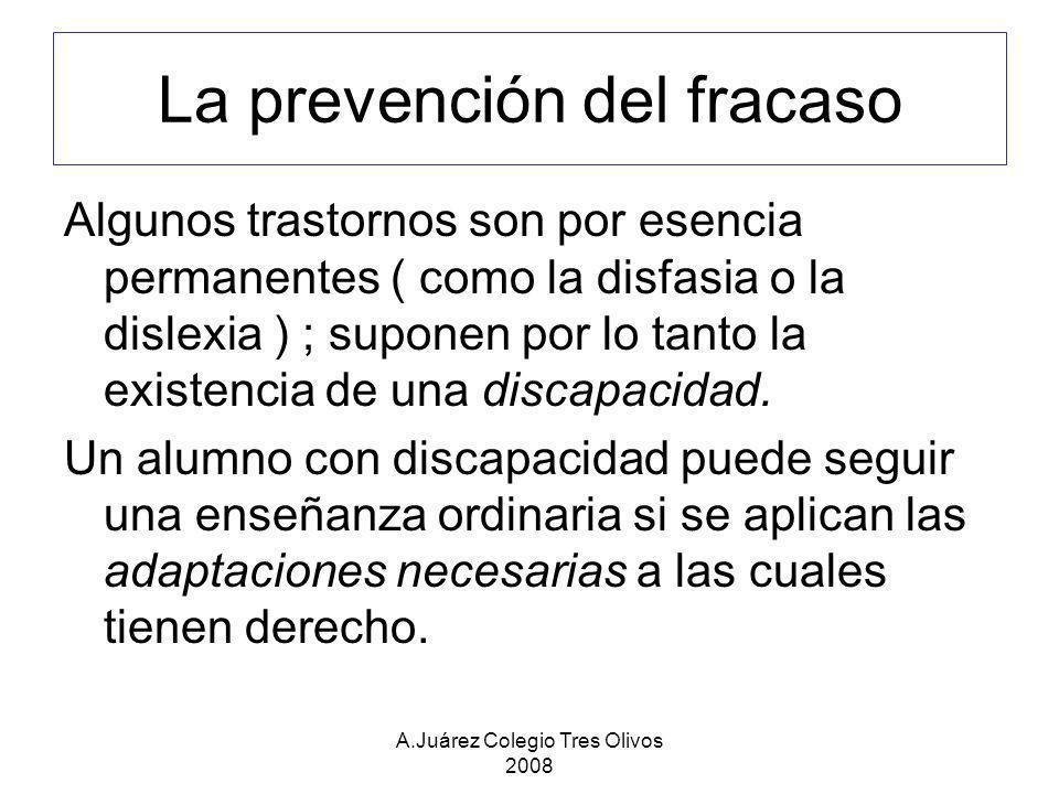 La prevención del fracaso