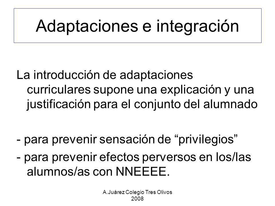 Adaptaciones e integración