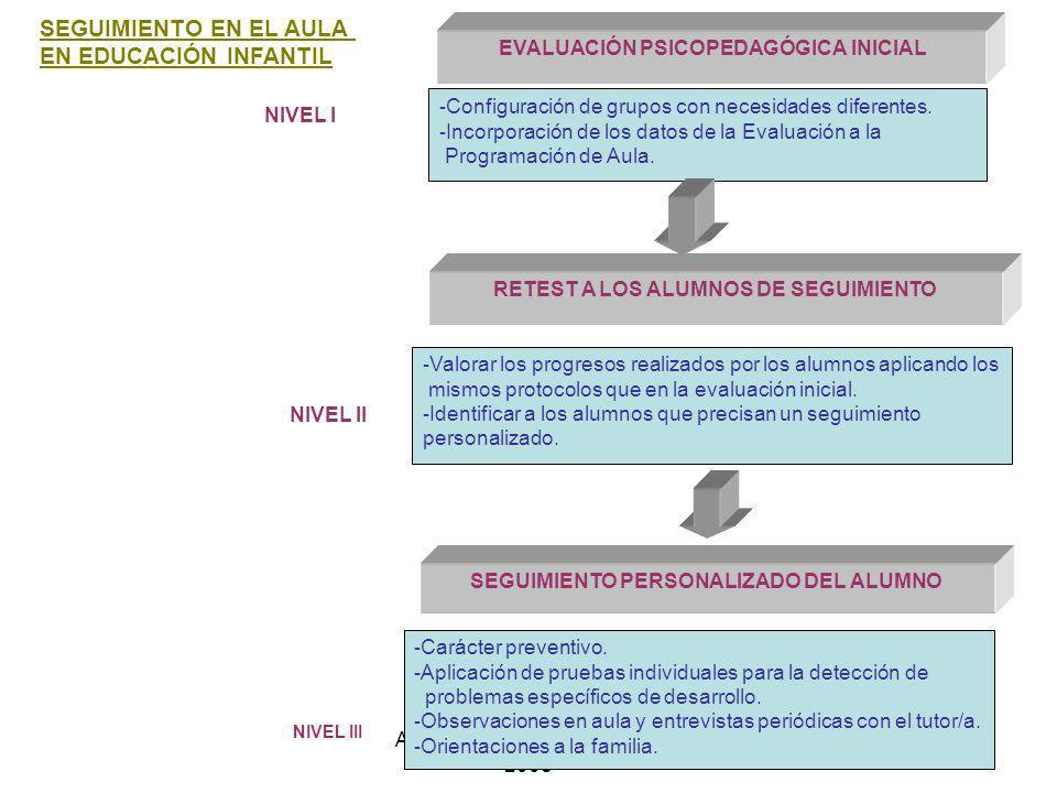 SEGUIMIENTO EN EL AULA EN EDUCACIÓN INFANTIL