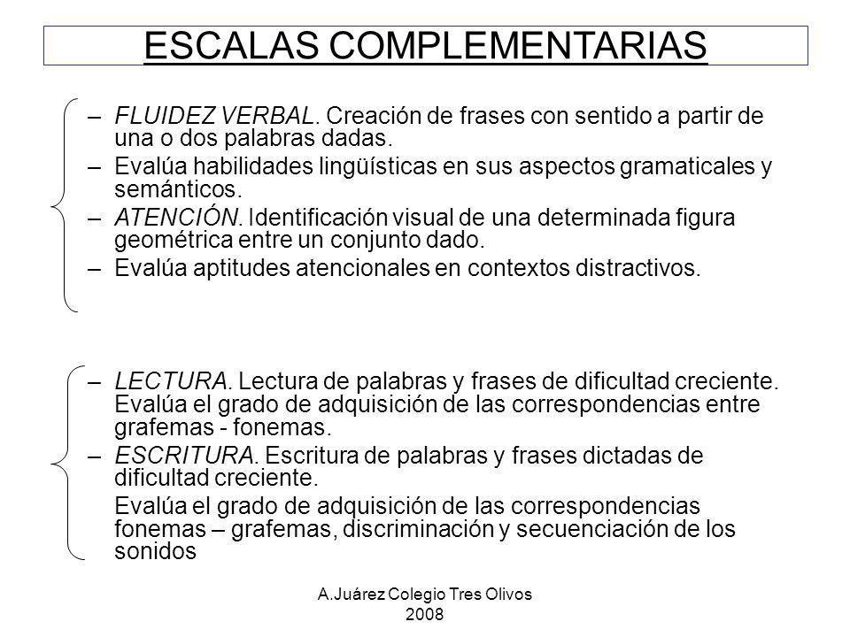 ESCALAS COMPLEMENTARIAS