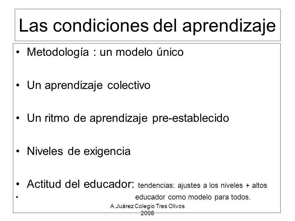 Las condiciones del aprendizaje