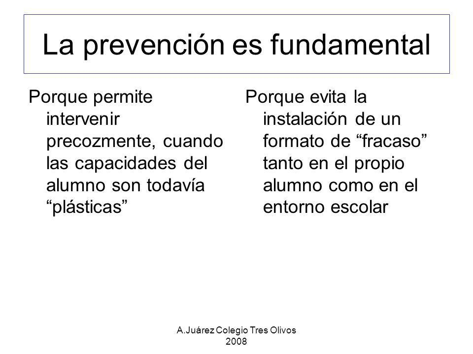 La prevención es fundamental