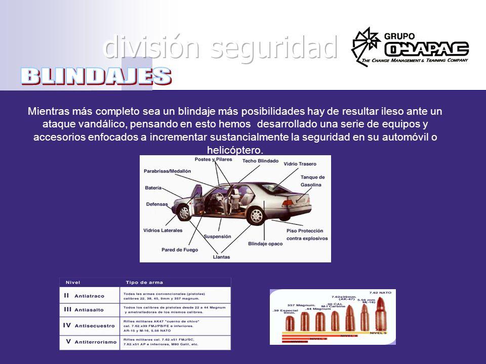división seguridad BLINDAJES
