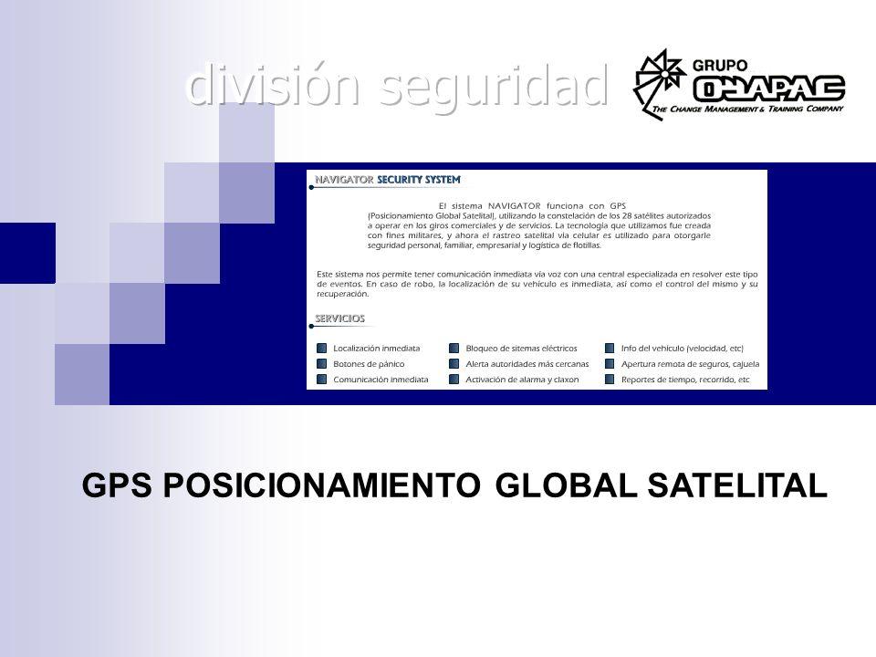 división seguridad GPS POSICIONAMIENTO GLOBAL SATELITAL