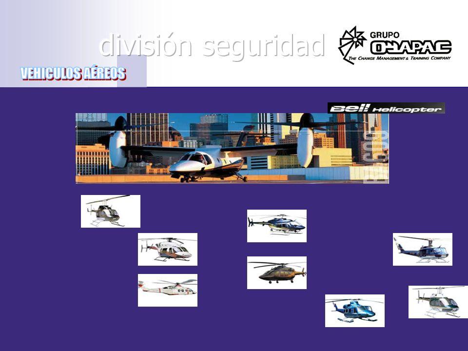 división seguridad VEHICULOS AÉREOS