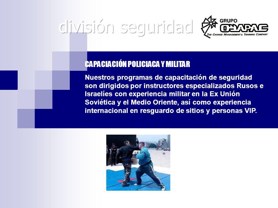 división seguridad CAPACIACIÓN POLICIACA Y MILITAR