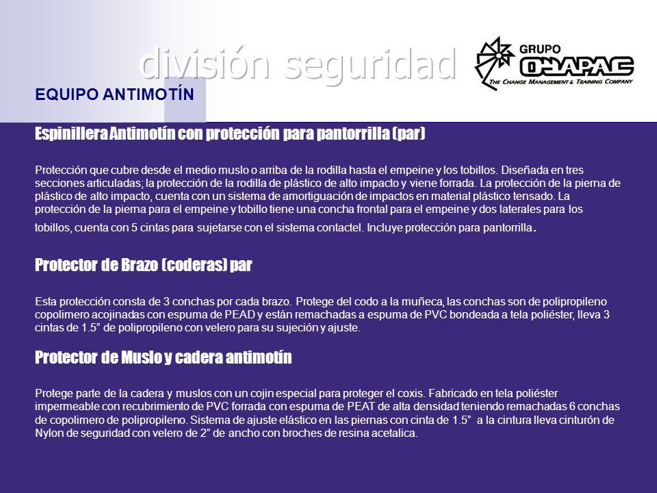 división seguridad EQUIPO ANTIMOTÍN