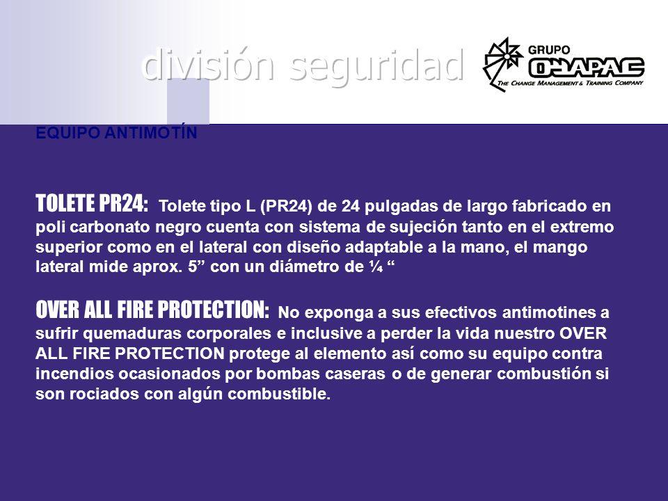 división seguridad EQUIPO ANTIMOTÍN.
