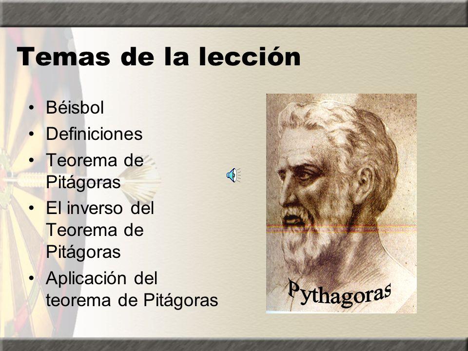 Temas de la lección Pythagoras Béisbol Definiciones