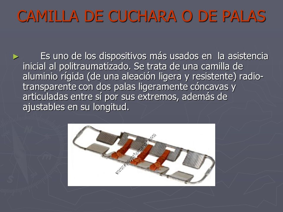 CAMILLA DE CUCHARA O DE PALAS