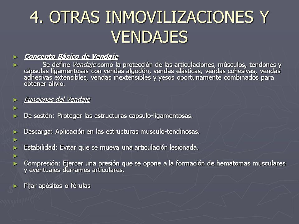 4. OTRAS INMOVILIZACIONES Y VENDAJES