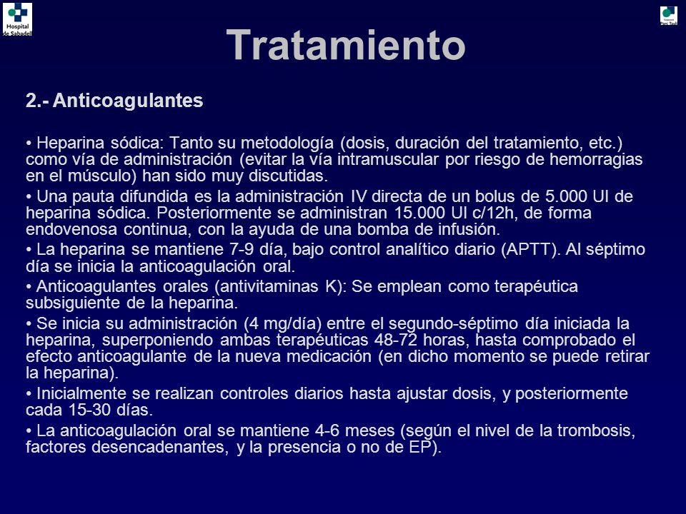 Tratamiento 2.- Anticoagulantes